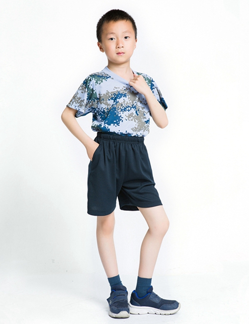 儿童城市迷彩体能服