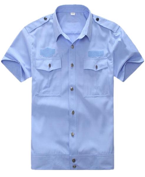 交织绸短袖衬衫