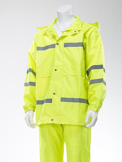 荧光绿雨衣